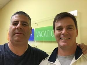Ray Lopez (L) and Del Eaton (R)