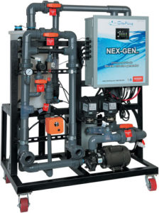 NEX-GENpH onsite chlorine generators are designed for heavily used pools.