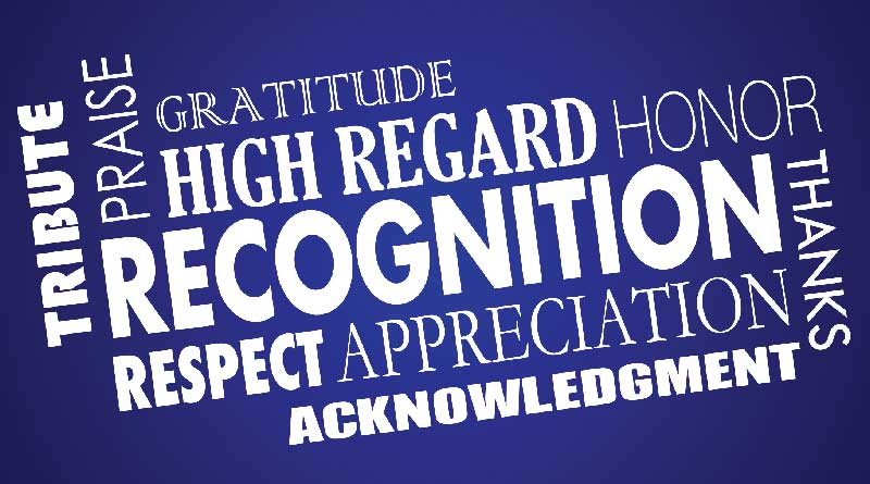 Praise, gratitude, recognition, respect, thanks