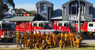 Dinner Plain CFA volunteer firefighters