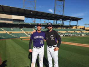 Nick with former Rockies great and five-time All Star Todd Helton
