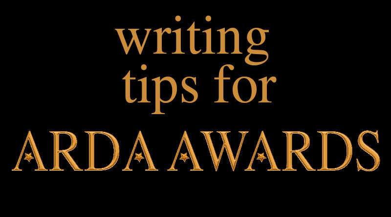 writing tips for arda awards