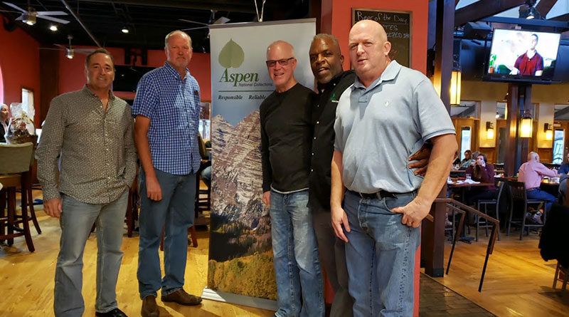 (Left to right) Buzz Waloch, John Brewer, Mike Seuell, David Combs, and Ray Genrich of Aspen National Collections