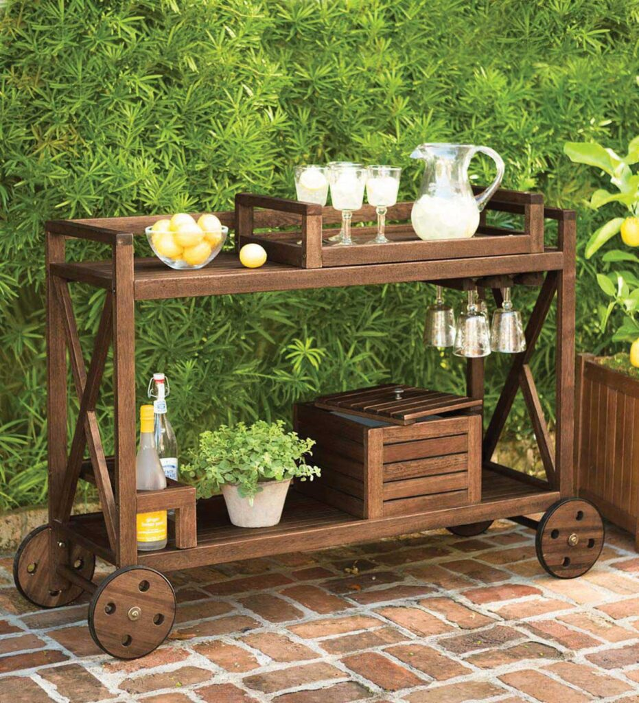 Mobile bar cart for ready to go refreshments
